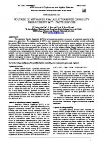 Voltage constrained available transfer capability ... - ARPN Journals