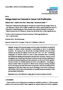Voltage-Gated Ion Channels in Cancer Cell Proliferation - CiteSeerX