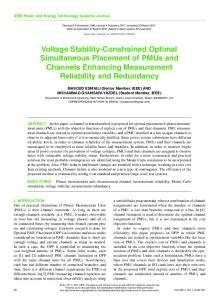 Voltage Stability-Constrained Optimal Simultaneous ... - IEEE Xplore