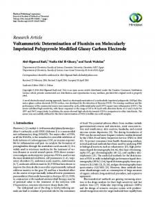 Voltammetric Determination of Flunixin on Molecularly Imprinted ...