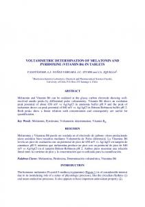 voltammetric determination of melatonin and