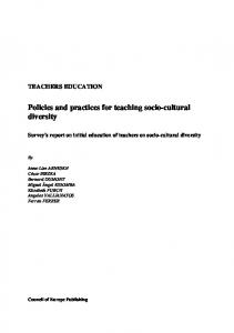 Volume 1-policies and practices for teaching ... - Council of Europe