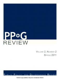 volume 2, number 2 spring 2011 - SSRN papers