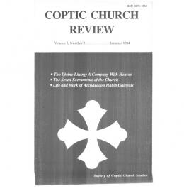 volume 5 No. 2.pdf - Coptic Church Review
