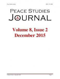 Volume 8, Issue 2 December 2015