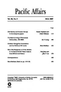 Volume 80, Issue 3, Fall 2007
