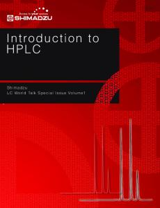 Volume1 Introduction to HPLC - Shimadzu