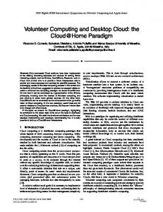 Volunteer Computing and Desktop Cloud: The Cloud ... - IEEE Xplore