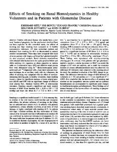 Volunteers and in Patients with Glomerular Disease - Journal of the ...