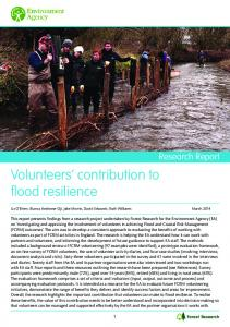 Volunteers' contribution to flood resilience - Environment Agency
