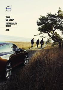volvo car group | sustainability report 2014