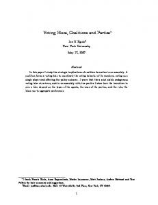 Voting Blocs, Coalitions and Parties - NYU