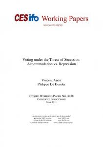 Voting under the Threat of Secession: Accommodation vs. Repression