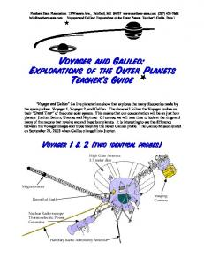Voyager & Galileo Teacher's Guide - Northern Stars Planetarium ...