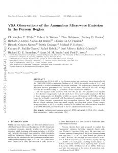 VSA Observations of the Anomalous Microwave Emission in the ...