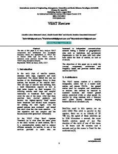 VSAT Review - International Journal of Engineering, Management ...