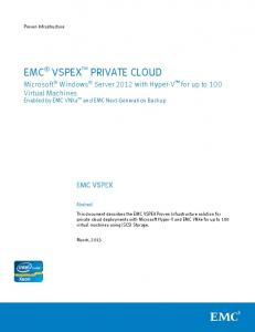 VSPEX Private Cloud with Microsoft Windows Server 2012 ... - EMC