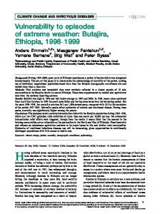 Vulnerability to episodes of extreme weather: Butajira ... - BioMedSearch