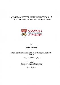 Vulnerability to Sleep Deprivation: A Drift Diffusion