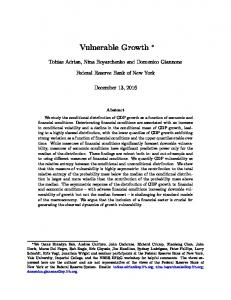Vulnerable Growth - Editorial Express