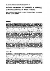 Vulture restaurants and their role in reducing ... - Semantic Scholar