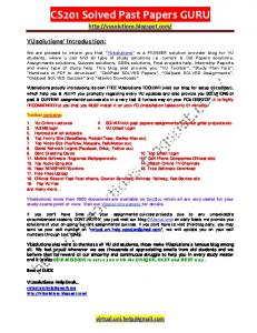 Xtremepapers olevel past papers mafiadoc vusolutions cs201 solved past papers guru ning urtaz Image collections
