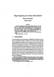 Wage bargaining and vertical differentiation