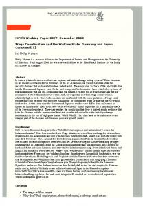 Wage Coordination and the Welfare State