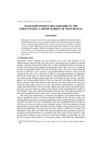 wage-employment relationship in the agricultural labour market of ...