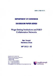 Wage-Setting Institutions and R&D Collaboration Networks