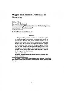 Wages and Market Potential in Germany