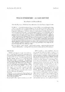 WAGR SYNDROME - A CASE REPORT