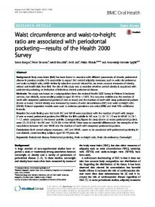 Waist circumference and waist-to-height ratio are associated ... - Jultika