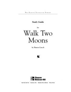 Walk Two Moons Study Guide - Glencoe