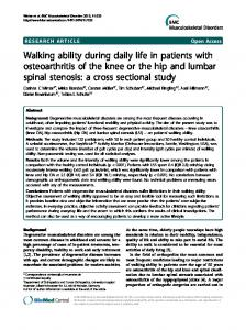 Walking ability during daily life in patients with ...