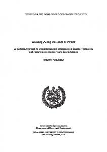 Walking Along the Lines of Power - Chalmers Publication Library