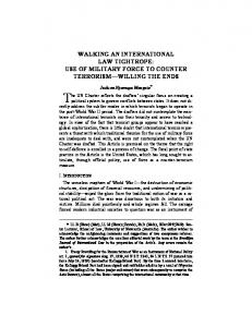walking an international law tightrope: use of military ... - SSRN papers