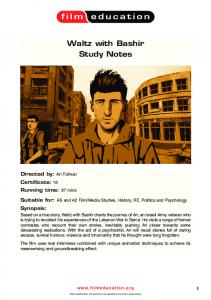 Waltz With Bashir study guide - Film Education