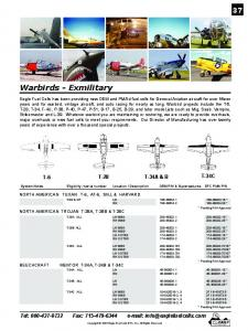 Warbirds - Exmilitary - Eagle Fuel Cells