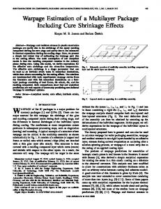 Warpage Estimation of a Multilayer Package Including ... - IEEE Xplore