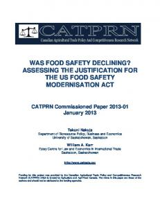 was food safety declining?: assessing the ... - AgEcon Search