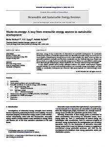 Waste-to-energy: A way from renewable energy sources to ...