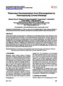 Wastewater Decontamination from Microorganisms by Electrospraying ...