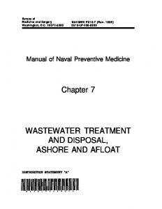 wastewater treatment ashore and afloat - Navy Medicine