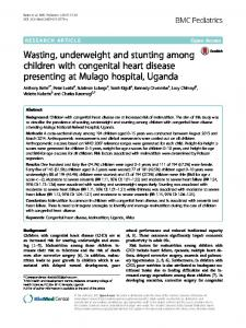 Wasting, underweight and stunting among children with ... - Core