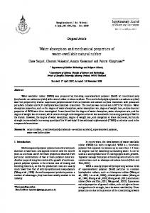Water absorption and mechanical properties of water ... - ThaiScience