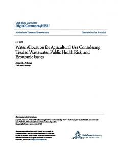 Water Allocation for Agricultural Use Considering ...