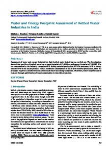Water and Energy Footprint Assessment of Bottled Water Industries in ...