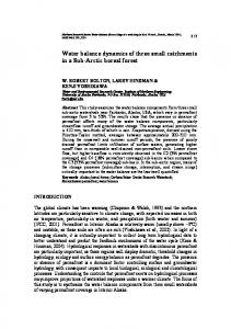 Water balance dynamics of three small catchments in a ... - CiteSeerX