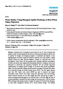 Water Banks: Using Managed Aquifer Recharge to Meet Water ... - MDPI